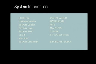 GX6605S HW203.00.049 HD RECEIVER CLINE OK NEW SOFTWARE