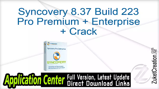 Syncovery 8.37 Build 223 Pro Premium + Enterprise + Crack