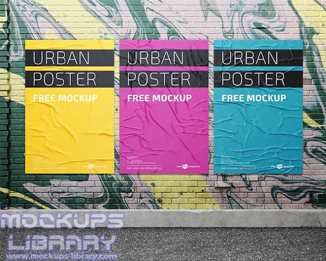 urban poster mockup free