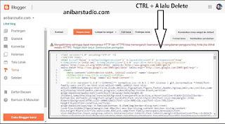 Cara mudah lengkap dan terbaik mengganti tema di blogspot - TERBARU | anibarstudio.com