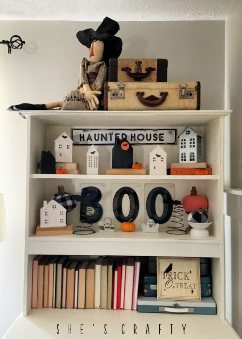 Halloween Home Decor - living room, cupboard decor