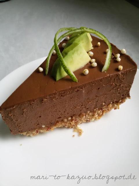 kazuo avocado schokoladen torte vegan und glutenfrei. Black Bedroom Furniture Sets. Home Design Ideas