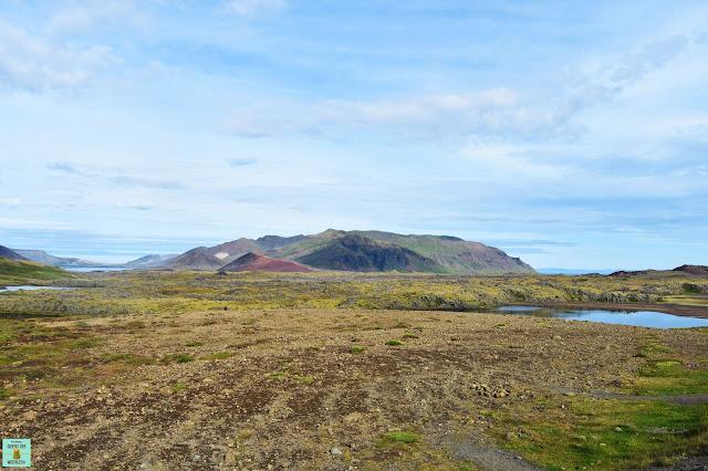 Campo de lava de Berserkjahraun en Snaefellsnes, Islandia