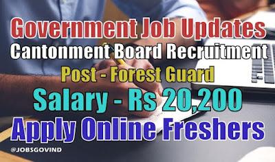Cantonment Board Recruitment 2020