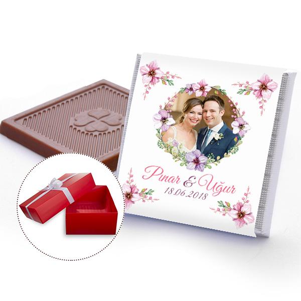 kişiye özel nişan çikolatası