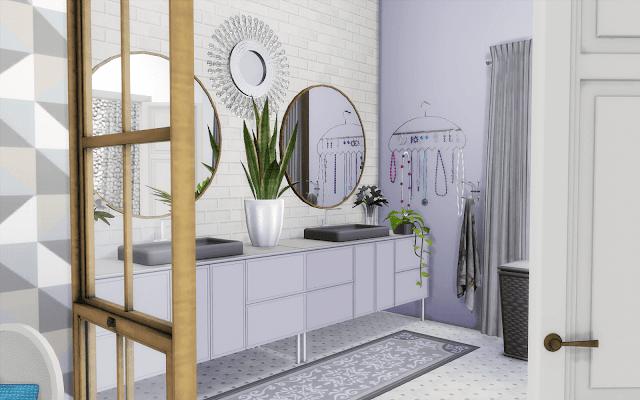 salle de bain blanche sims 4