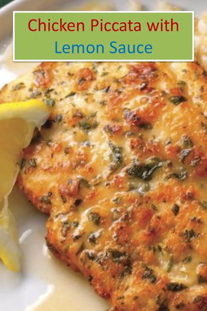 Chicken Piccata with Lemon Sauce #Chicken #Piccata #with #Lemon #Sauce #ChickenPiccatawithLemonSauce