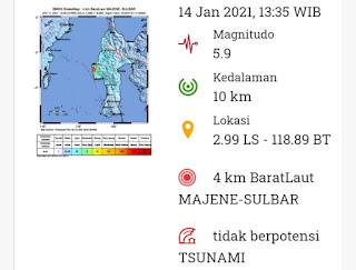 Breaking News: Gempa 5.9 SR Guncang Mamuju