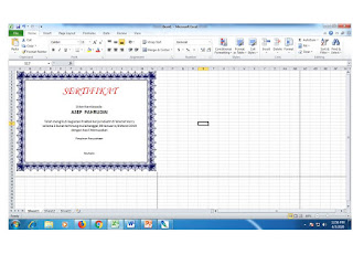CARA MEMBUAT SERTIFIKAT DI MICROSOFT EXCEL 2010