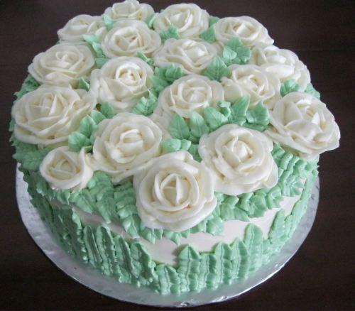 contoh Hiasan Kue Pengantin