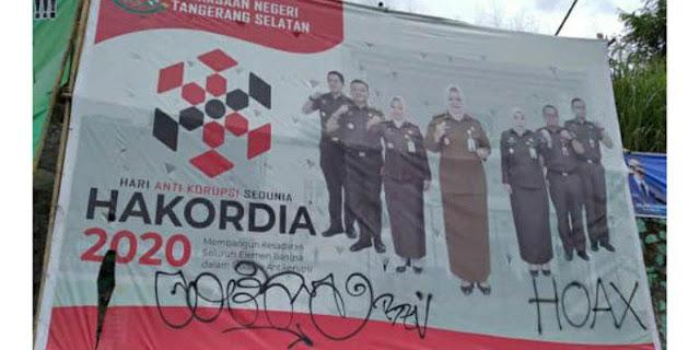 Baliho Anti Korupsi Kena Aksi Vandalisme, Sindiran Untuk Kejari Tangsel?