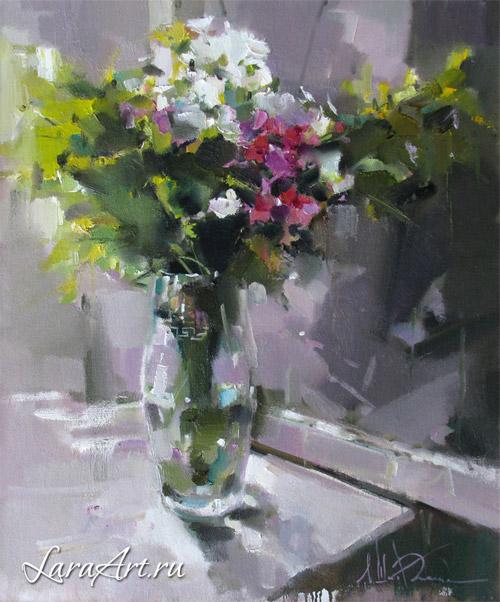 Дождливое лето, натюрморт, цветы