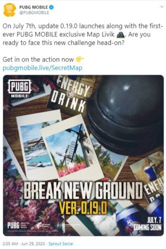 Official Declaration by PUBG on Twitter