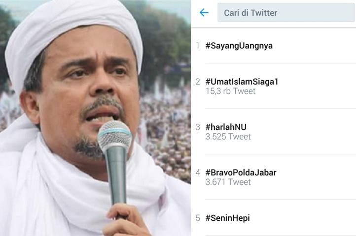 Habib Rizieq tersangka - tagar UmatIslamSiaga1