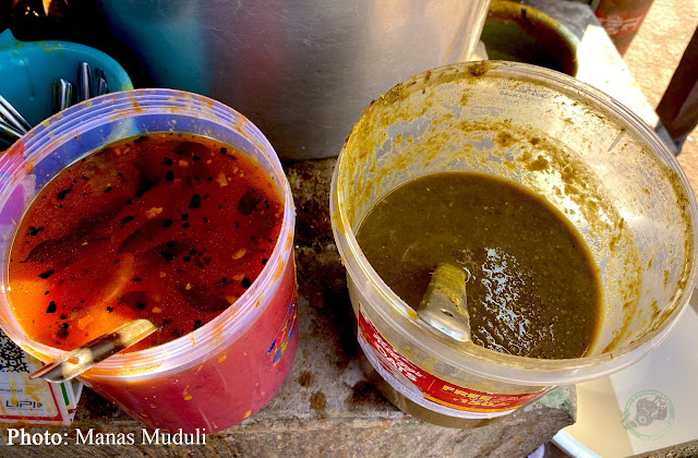 Special Chutney at Sailashree Vihar Food Stall near Tarini Temple
