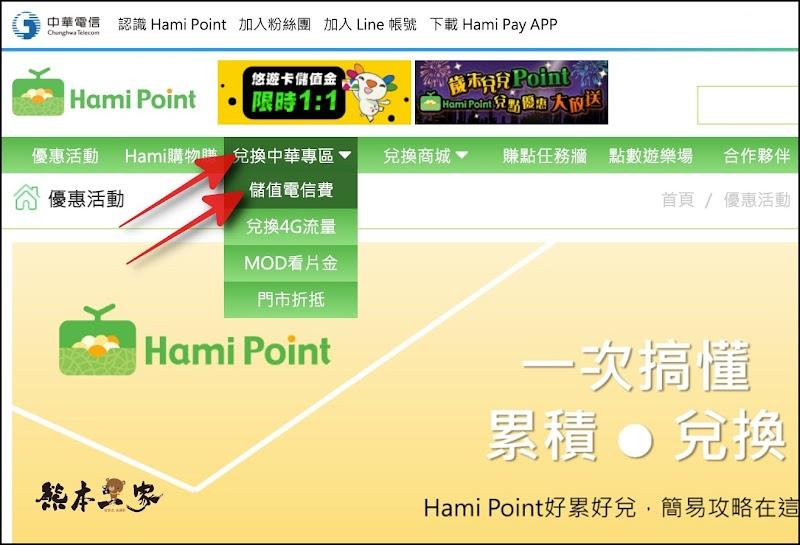 如何使用Hami Point點數繳電話費折抵電信費|Hami Point點數秒變現金