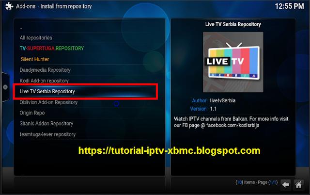 Live Tv Serbia Addon