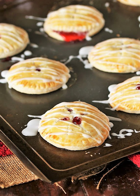 Cherry Pie Cookies Drizzled with Glaze Image