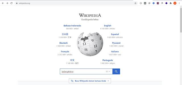 Pencarian Artikel Wikipedia