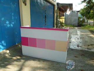 Meja Kasir Plus Cash Drawer Laci Uang - Furniture Semarang