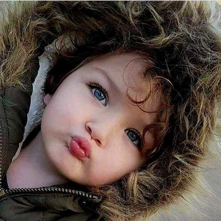 So cute Baby give Kiss