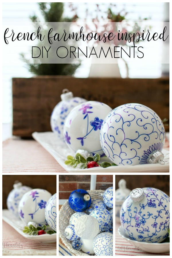 French farmhouse inspired DIY ornaments