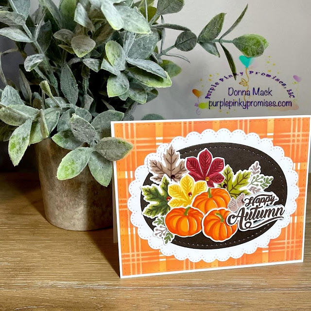Sunny Studio Stamps: Crisp Autumn Customer Card by Donna Mack