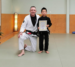 Professor Adam Evans at Auckland Kids BJJ