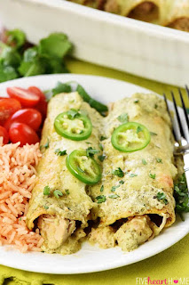 Jalapeno-Chicken-Enchiladas