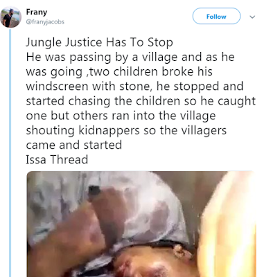Jungle Justice: Man Taken As A Kidnapper Beaten Up And Died In Hospital (PHOTO)