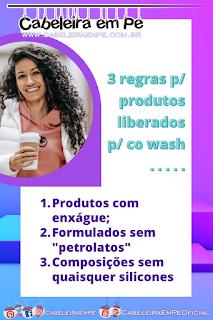 Três regras para fazer co wash