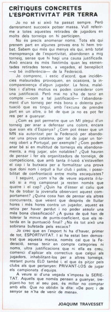 Artículo de Joaquim Travesset en el Butlletí nº 12 de la FCdE