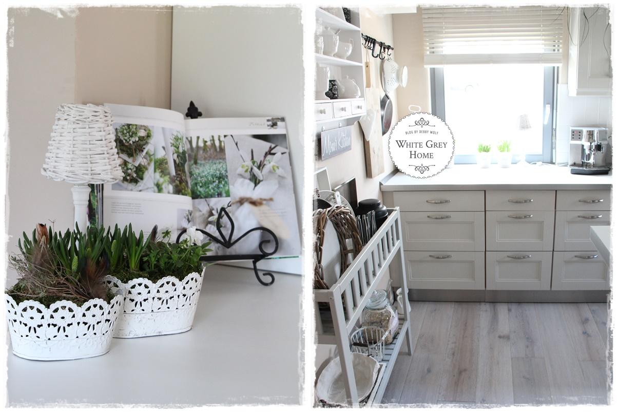 white grey home: Aprilküche