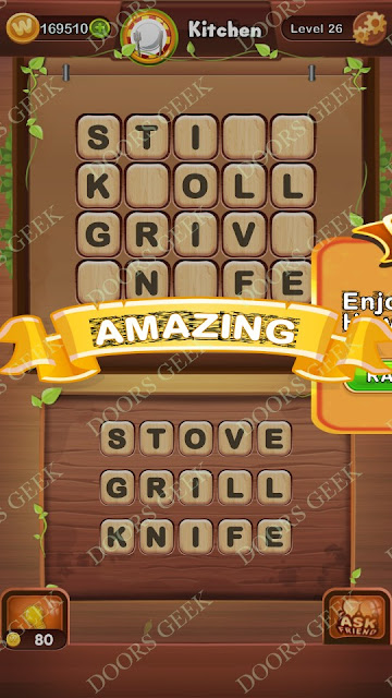 Word Bright Level 26 Answers, Cheats, Solutions, Walkthrough for android, iphone, ipad and ipod