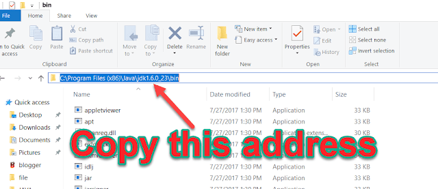 copy bin folder address