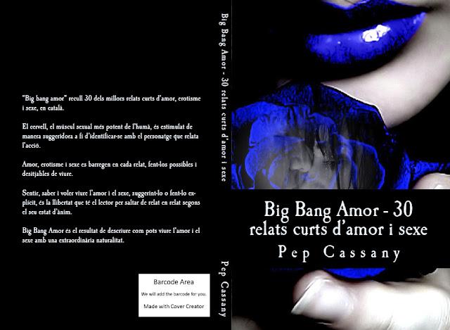 Portada del Big Bang Amor, el primer llibre de relats d'en Pep Cassany