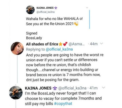 """BBNaija: """"See You At The Re-union""""- Ka3na Tweets After Nengi Revealed She's Not In The WhatsApp Group With Ex-housemates #Arewapublisize"""