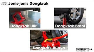 Jenis-jenis dongkrak mobil
