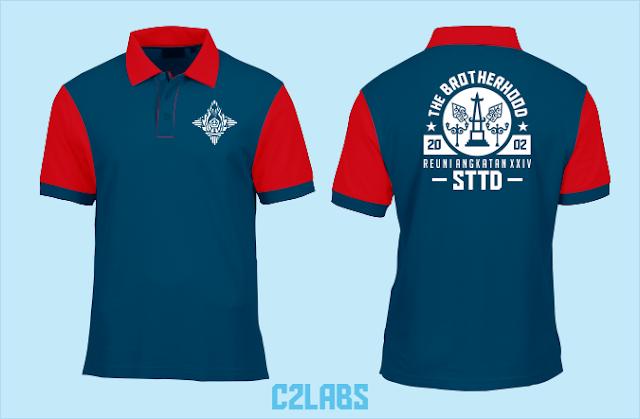 Kaos Kerah Reuni Polo Biru Shirt Wangki Bordir Komputer Dolan Nang Jogja 2020