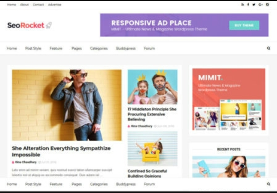 Seo Rocket Blogger Template Terbaik Blogspot Templates 2019