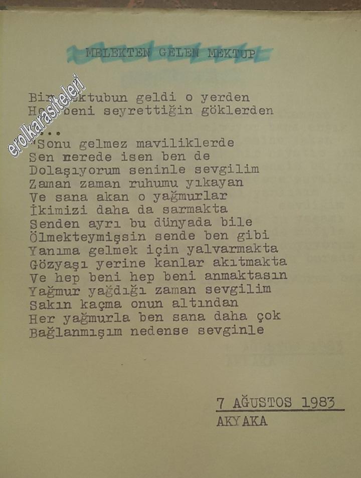 Nostaljik Asker Şiirleri - Melekten gelen mektup