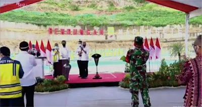 Presiden Jokowi Meresmikan Bendungan Napun Gete, Kabupaten Sikka, NTT