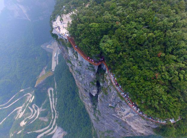 Road Tianmen Mountain