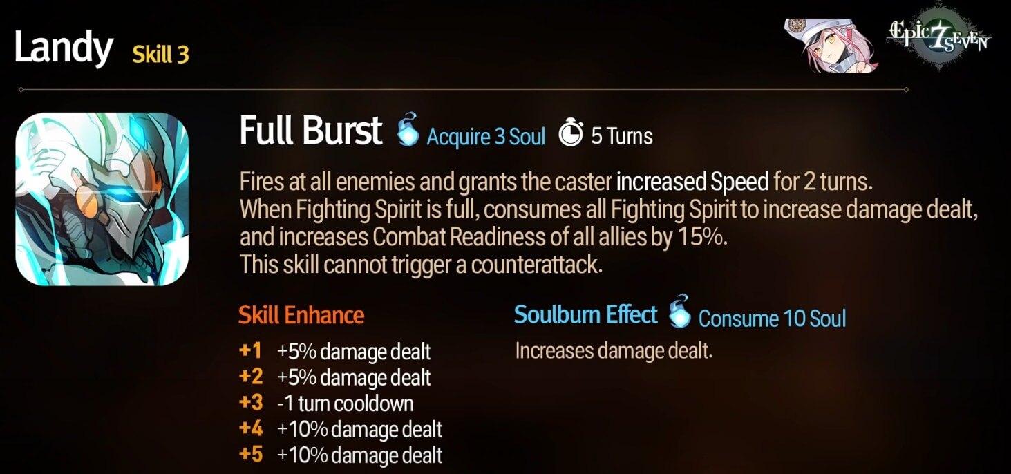 Epic Seven Limited Hero Landy Full Burst