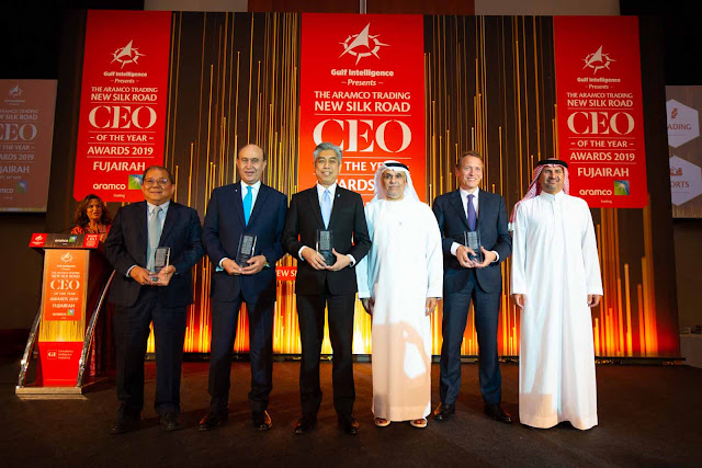 Image Attribute: The Winners of The Aramco Trading New Silk Road CEO of the Year Awards 2019 / Source: The Gulf Intelligence