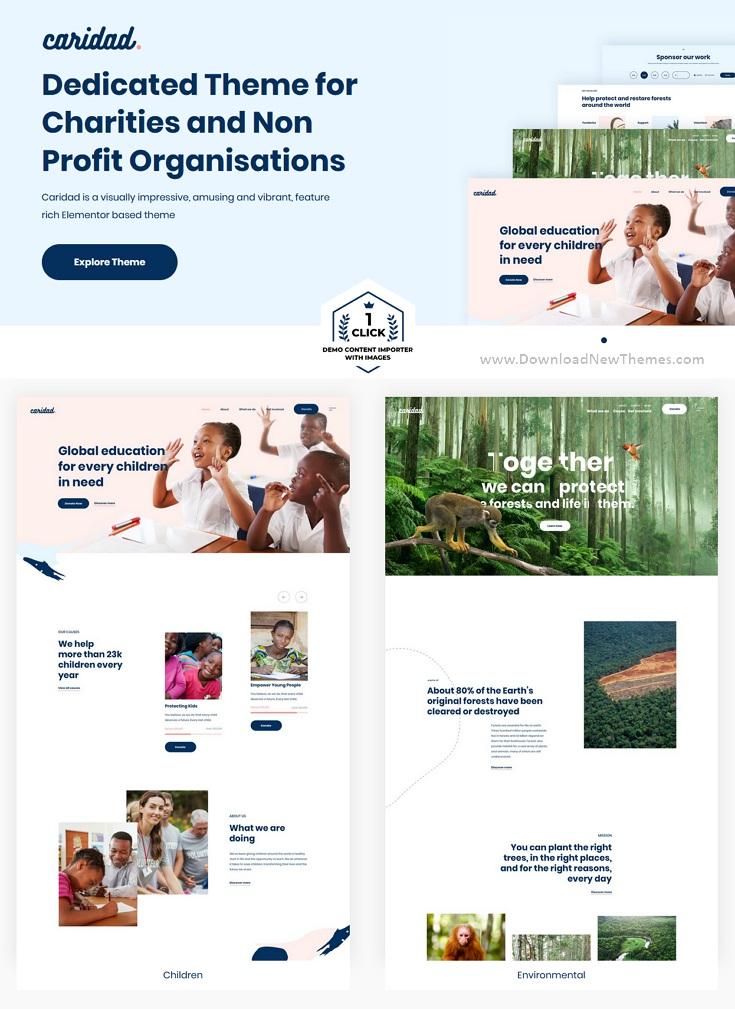 Charity Nonprofit Premium WordPress Theme