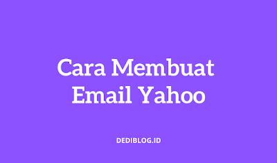 Cara Membuat Email Akun Yahoo
