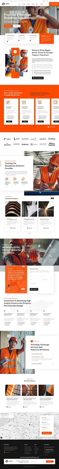 Construction & Architecture Website Template