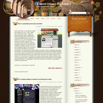 Explore Ireland Old Castles Blogger Template. free download template blogspot