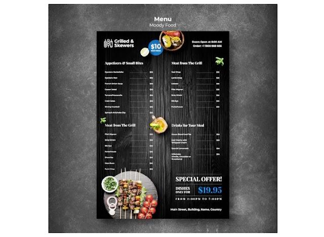 Contoh Desain Background Menu Makanan Keren : Download ...